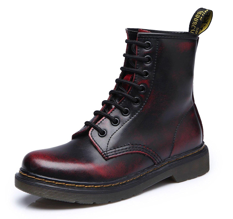 uBeauty Chaussures - Bottes Femme - Martin Bottes Bottines Lacets - Boots Flattie Sport - Chaussures Classiques - Bottines À Lacets Noir Rouge 5c24c3b - reprogrammed.space