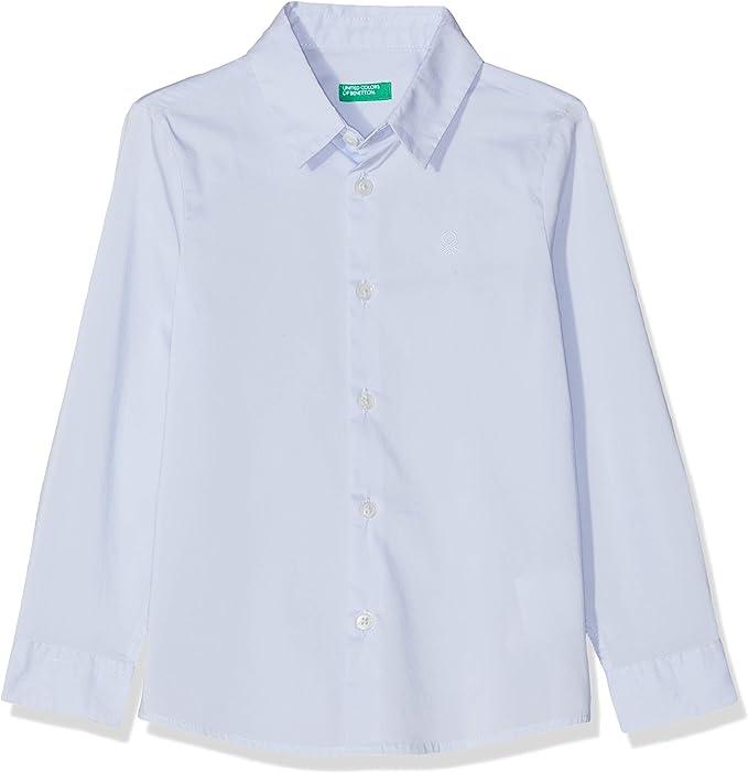 United Colors of Benetton Basic B2 Camisa, Azul (Azu Baby 081), 170 (Talla del Fabricante: XX) para Niños: Amazon.es: Ropa y accesorios