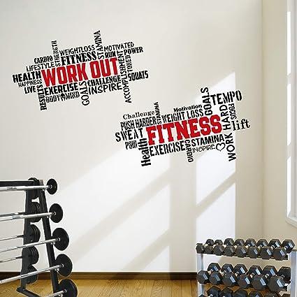 Amazon.com: designdivil 2 large pro workout fitness motivational
