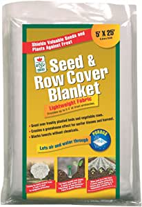 Easy Gardener 40151 EMW7386212 Seed & Row Cover Blanket for Frost Protection, Seed Germination, Seaso, 5 feet x 25 feet, Brown/A