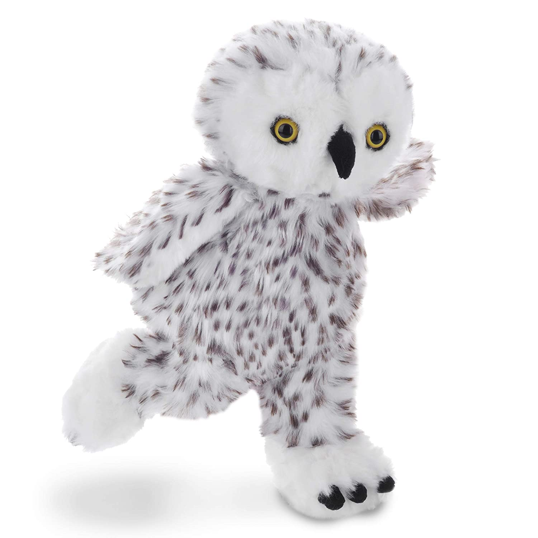 Amazon Com Lazada Plush Snowy Owl Realistic Hoot Owl Stuffed Animal