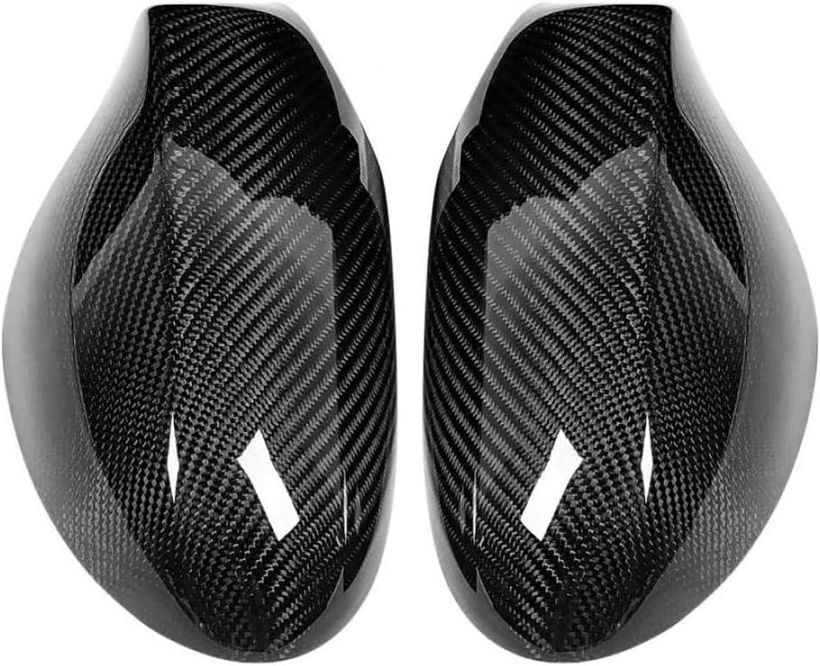 QWASZX 1 par de Espejos para retrovisor Cubiertas de Fibra de Carbon para 1 Series E82 E87 2007-2010 protecci/ón de la Carcasa del Espejo retrovisor Accesorios