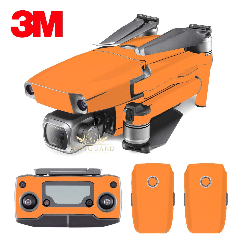 SopiGuard 3Mマットオレンジビニールステッカースキン DJI Mavic 2 Pro/Zoom B07HDPFVZV