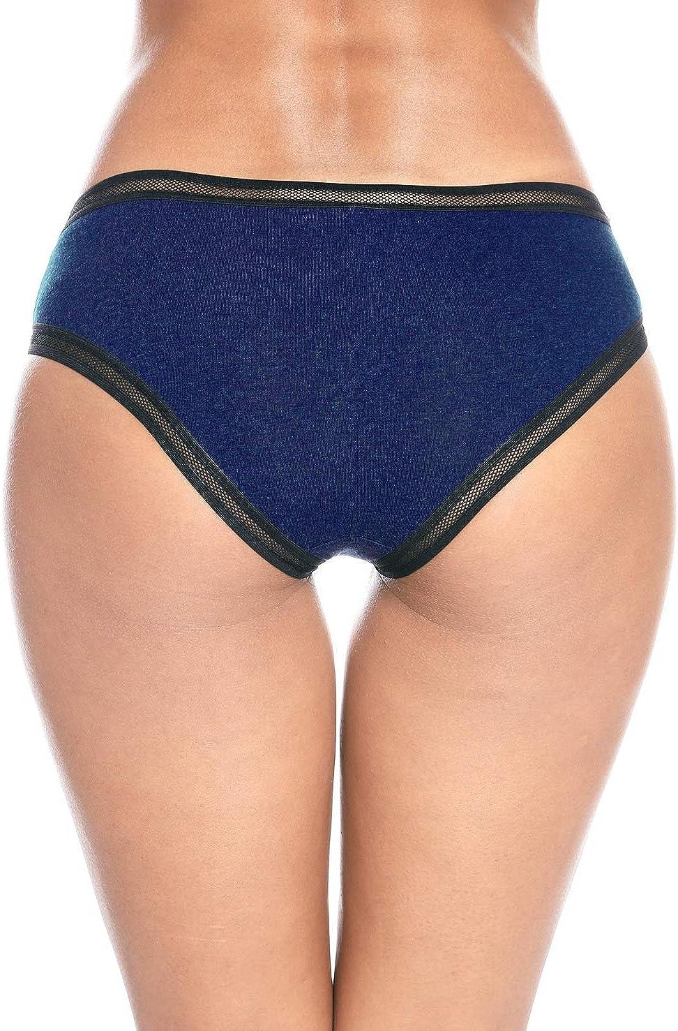 Anwell Pantys Damen Spitze Unterhosen Baumwolle Hipster Unterw/äsche Sport 4er Pack