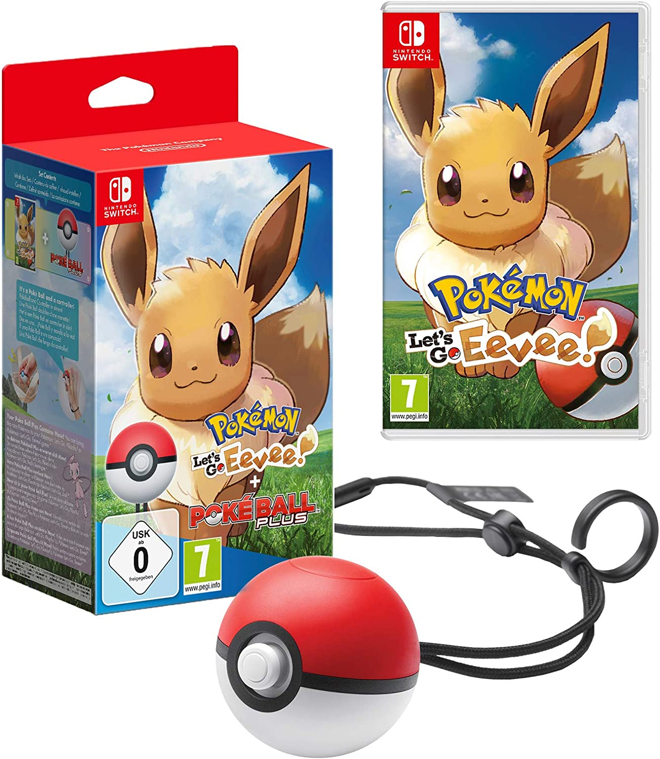 Pokémon Lets Go Eevee! + Poké Ball Plus: Amazon.es: Videojuegos