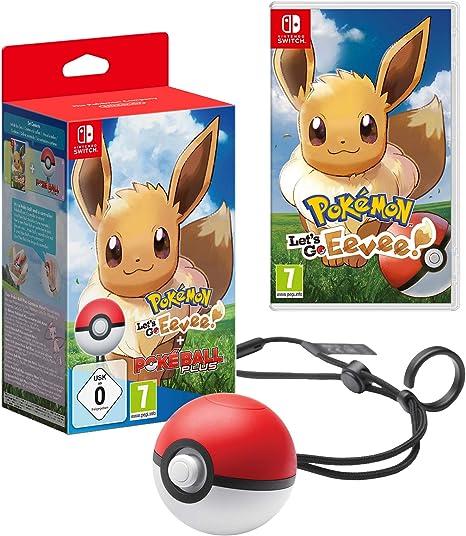 Pokémon Lets Go Eevee! + Poké Ball Plus: Amazon.es: Videojuegos