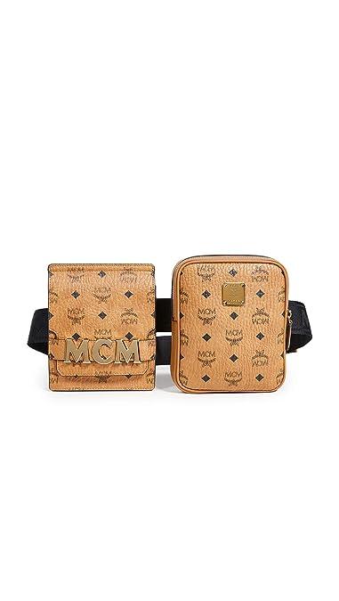 ba27fba6949e5 Amazon.com: MCM Men's Stark Belt Bag, Cognac, One Size: Shoes