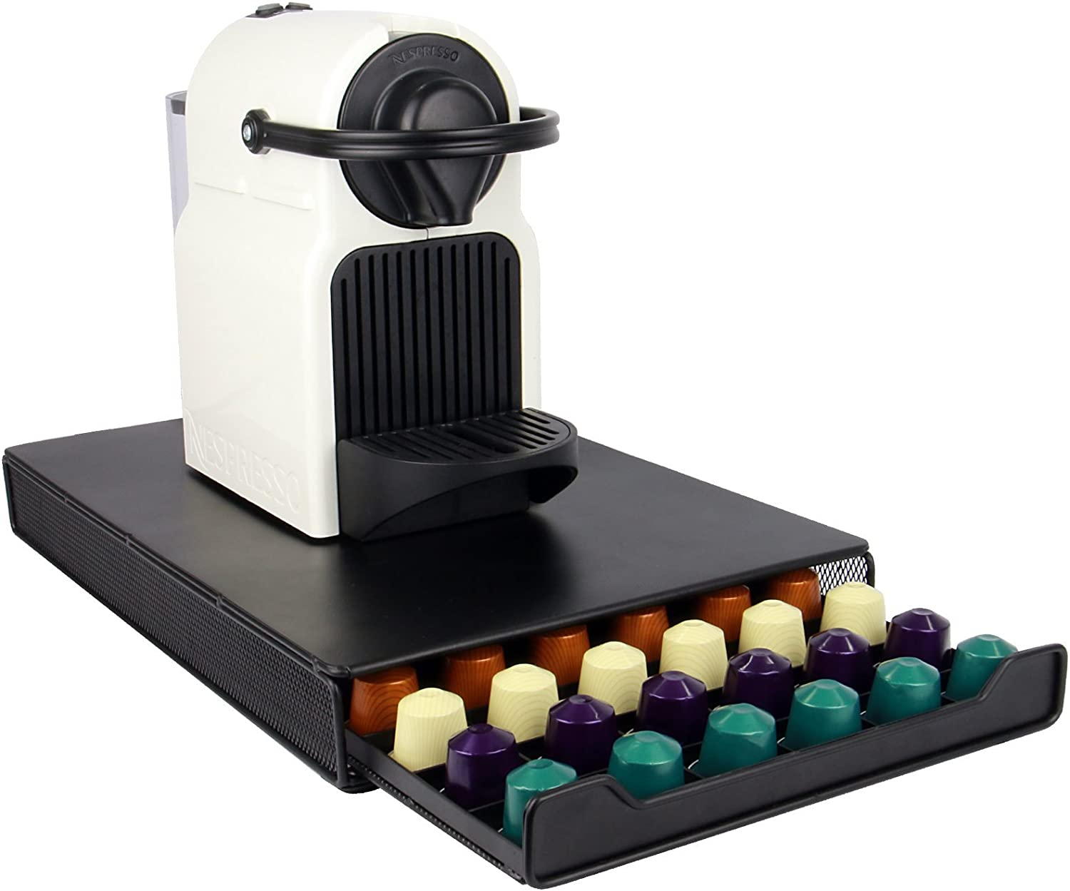 Nespresso 60 Pod Holder | Drawer Capsule Storage & Coffee Machine ...