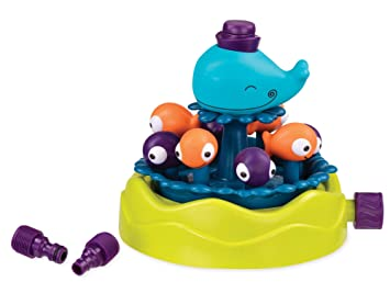 B. toys by Battat BX1527Z Whirly Whale Sprinkler – Summer & Water Toys for Kids – Phthalates & BPA Free – 2 Years +