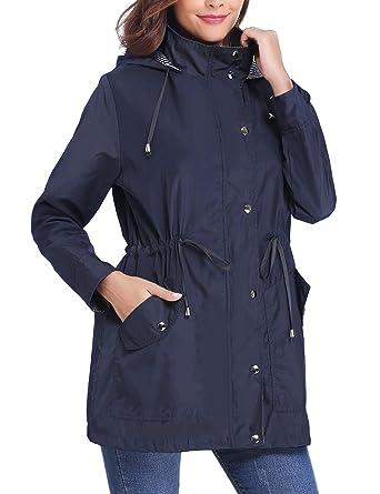 la meilleure attitude 0a723 a5770 iClosam Coupe Vent Impermeable Femme Manteau de Pluie Femme Impermeable  Pluie Femme Capuche
