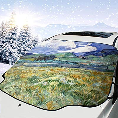 PandainspirS Car Windshield Snow Cover Sunshade Protector Sun Shade Snow Ice Frost Protector Waterproof for Cars Trucks Vans SUV All Weather Winter Summer-Van Gogh Mountainous: Car Electronics
