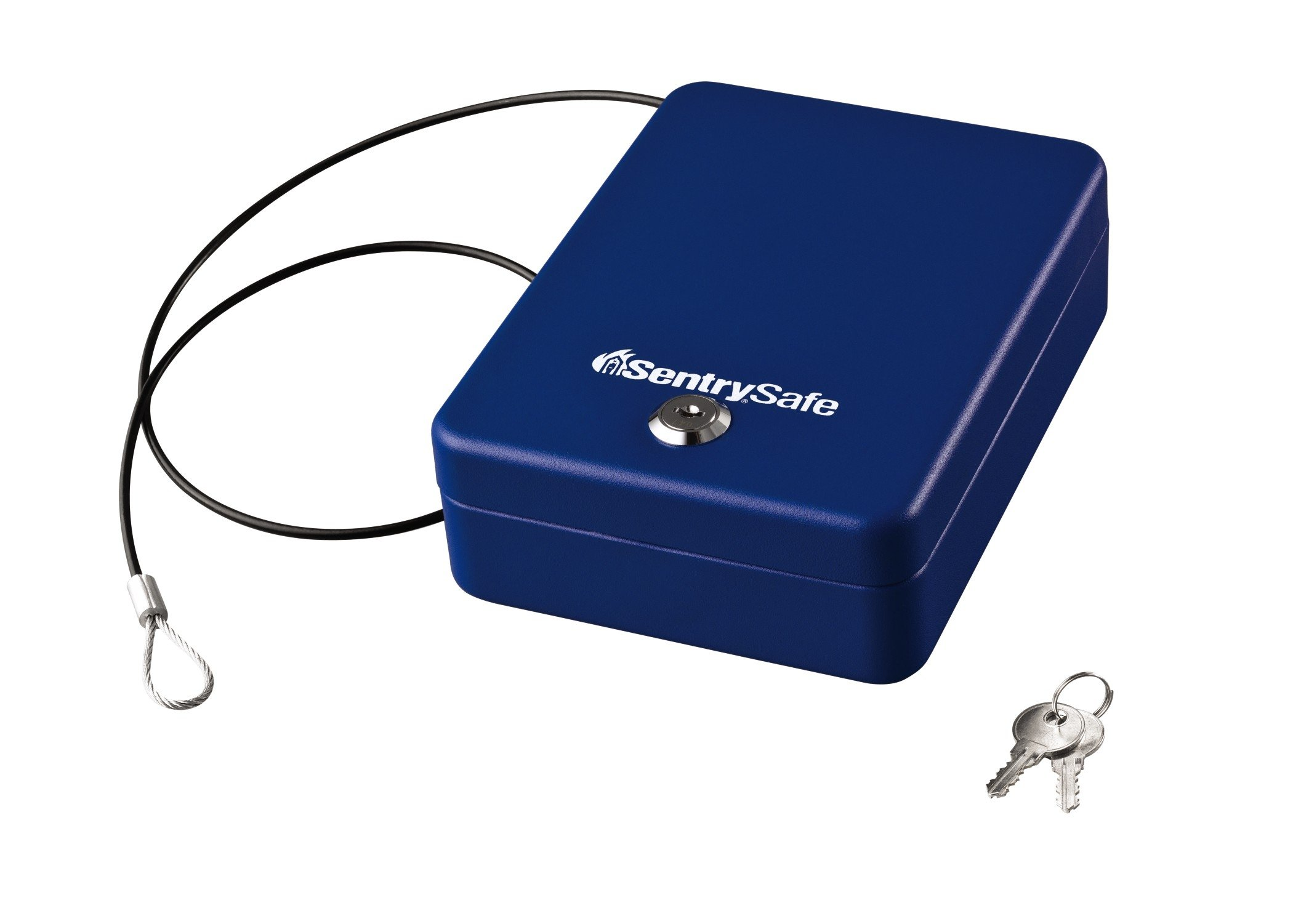 SentrySafe P005KBL 0.05 Cubic Foot Keyed Compact Safe, Blue
