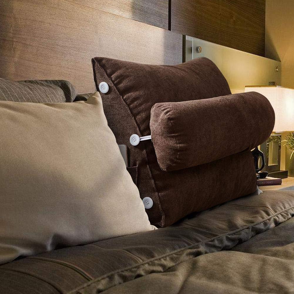 Sroomcla Nordic semplice lungo cuscino coreano letto in velluto letto finestra lungo cuscino cerniera rimovibile lavabile posteriore regolabile cuscino cuneo cuscino cuscino del divano