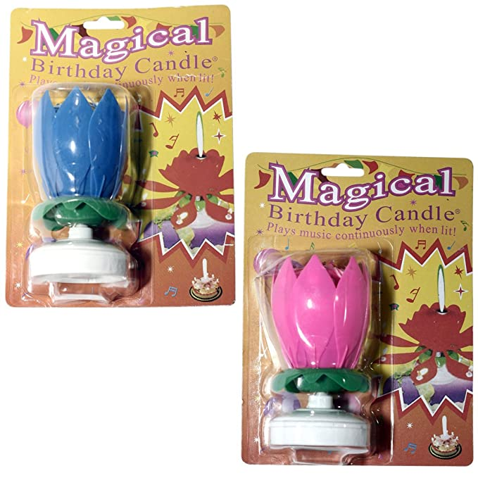 The Amazing Singing Opening Flower Happy Birthday Candle 2 Pack Amazonin Home Kitchen