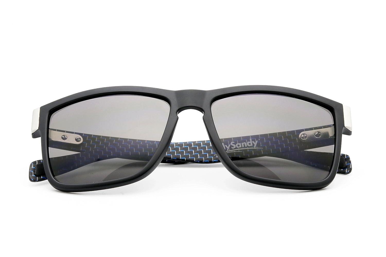 Mysandy Gafas de Sol polarizadas de Fibra de Carbono, Estilo ...