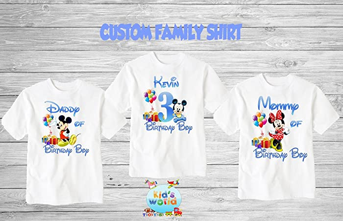 Mickey Mouse Birthday ShirtCustom Shirtpersonalized Shirt Family