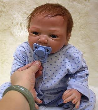 ZIYIUI Bebe Reborn niño 20 Pulgadas 50 cm Muñeca Reborn Realista Bebé recién Nacido Hecho a Mano Silicona Suave Vinilo Magnético Juguete Realidad Niño
