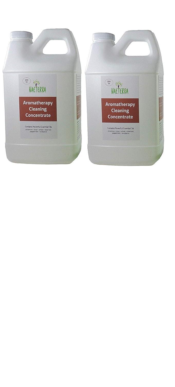 1ガロン Naeterra アロマセラピークリーニング濃縮 4泥棒 家庭用クリーナー (64オンスボトル2本) 最大48ガロンの非毒性クリーナーを製造 B07L8NP4P4