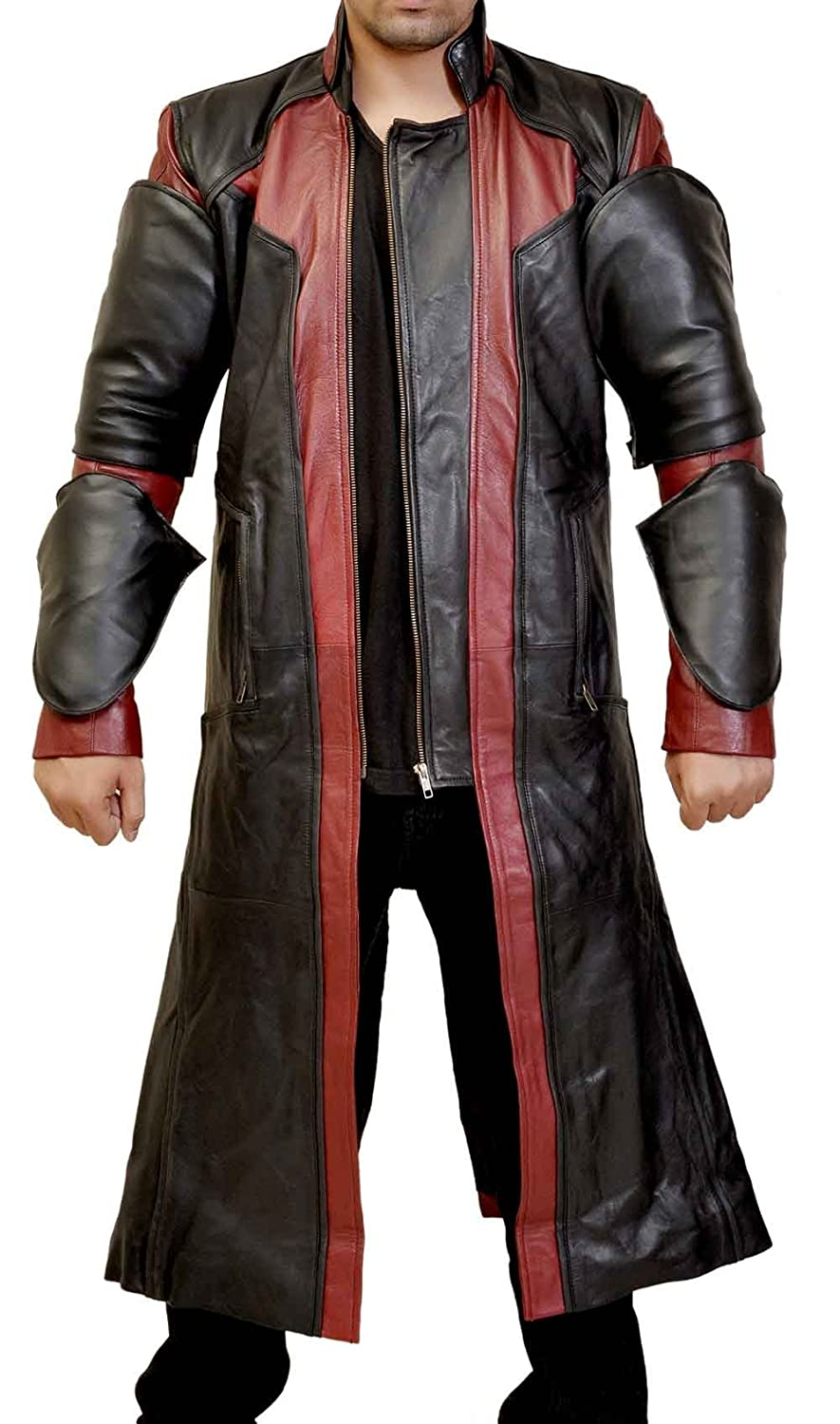 The Avengers: Age of Ultron Men's Hawkeye Full Faux Leather Coat - DeluxeAdultCostumes.com