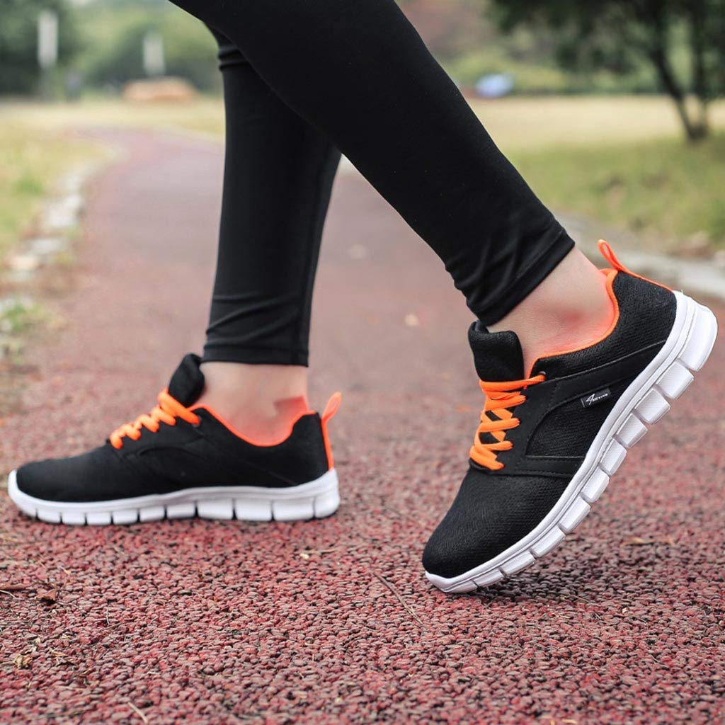KEEYSUN Fashion Womens Mesh Breathable Sneakers Casual Shoes Student Running Shoes Slip On Walking Shoes