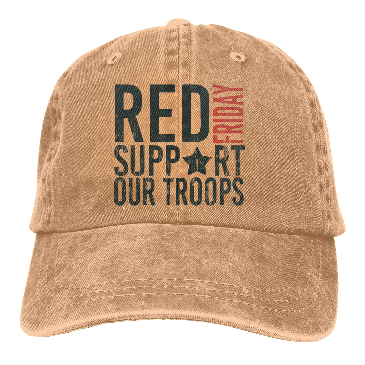 RED Friday Vintage Washed Dyed Cotton Twill Low Profile Adjustable Baseball Denim Cap