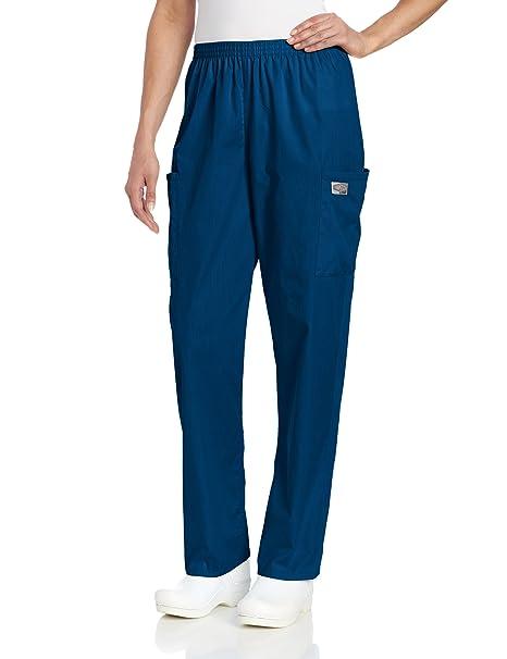 276ea0851de19 Amazon.com: ScrubZone Women's Full Elastic Waist Cargo Scrub Pant ...