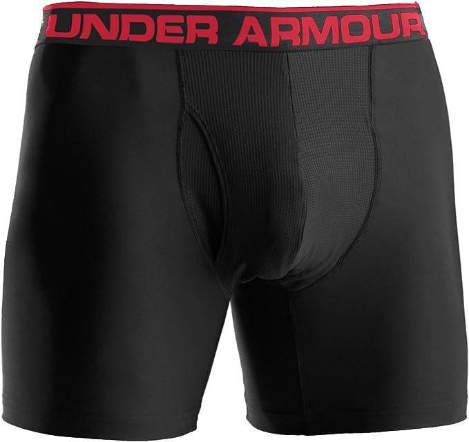 "Red Black New Under Armour Original 6/"" Boxerjock"