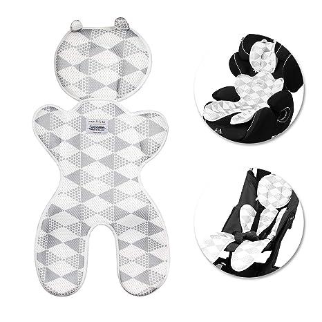 Baby Sitzauflage,Samione Atmungsaktive Sitzeinlage Universal Sitzauflage für Kinderwagen, Buggy, Autositz und Babyschale - Sc