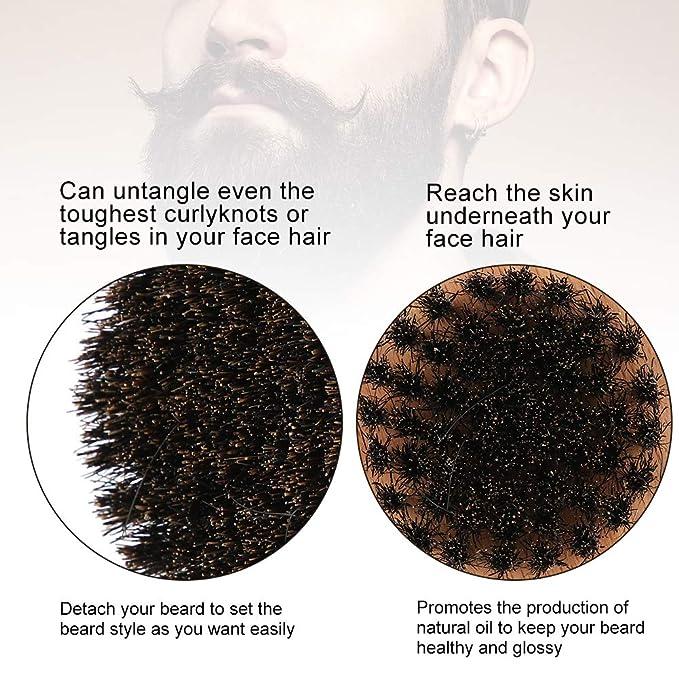 Cepillo de barba para hombres, Cepillo de madera de haya ...
