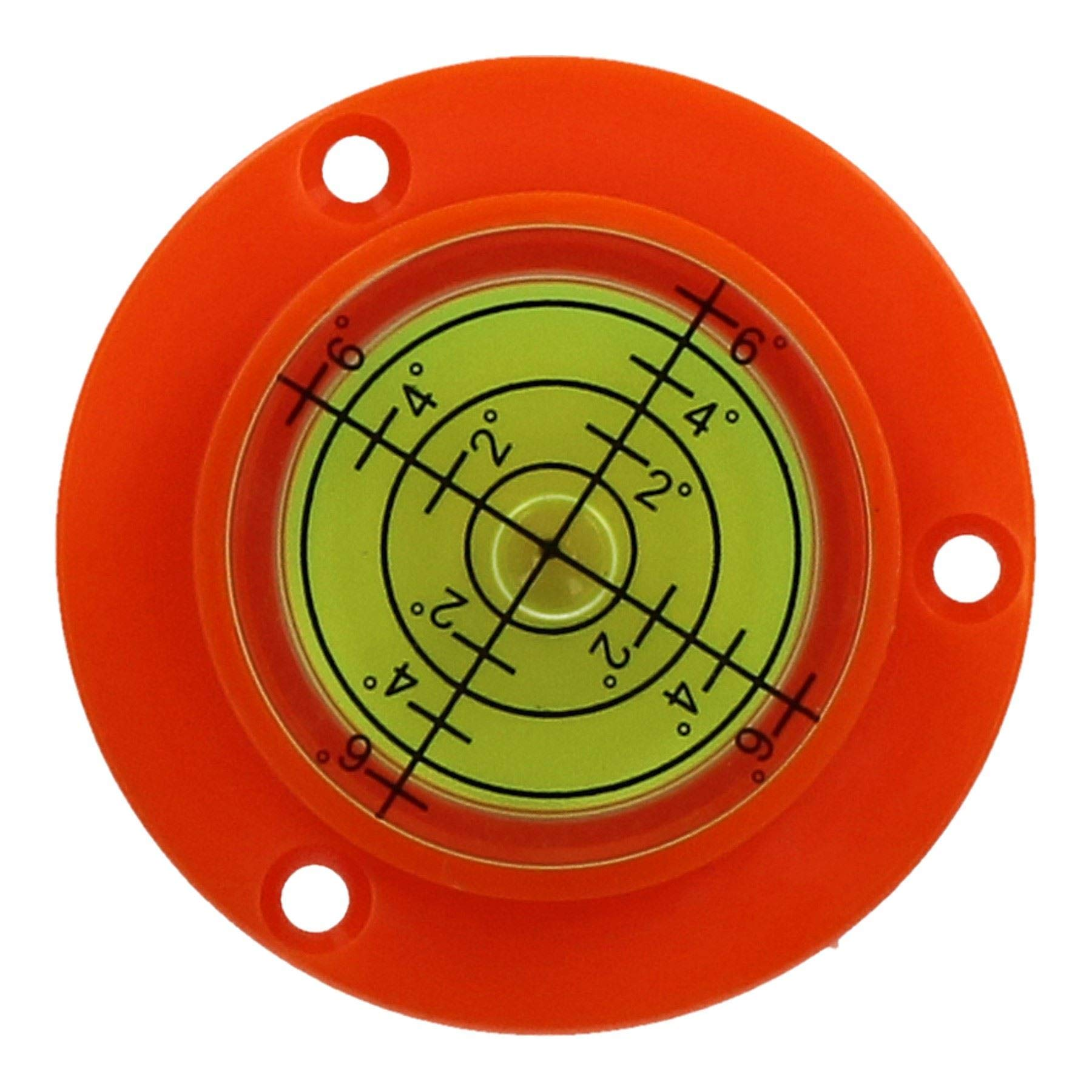 50mm Bull Eye Level Spirit Bubble Orbit Surface 0-6 degree Levelling Area