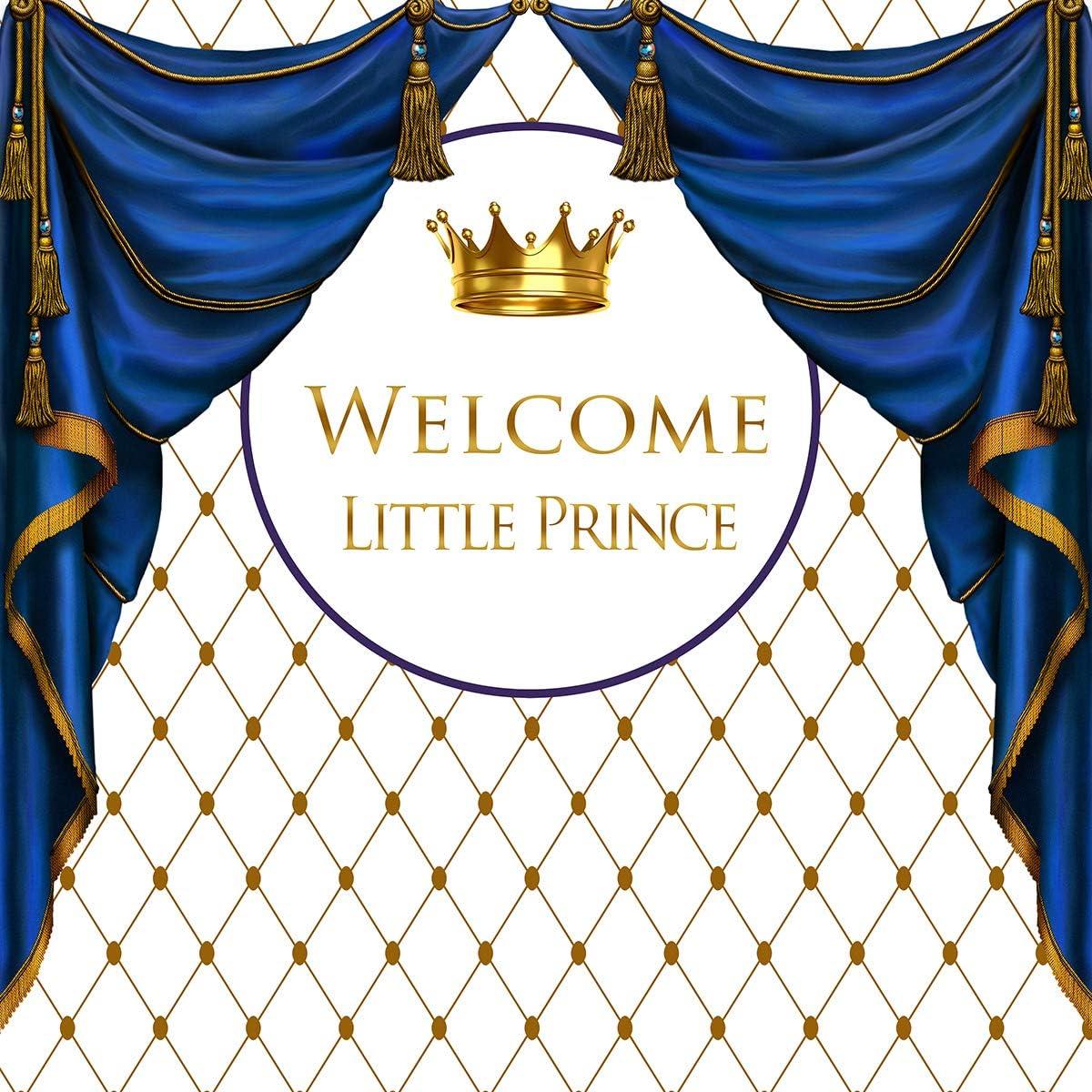 Royal Pink Princess Baby Shower Hintergrund Golden Crown Pink Vorhang White Hintergrund Baby Girl Shower Party Banner Supplies Dekoration