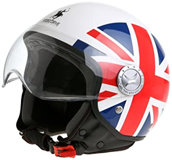 Rodeo Drive Casco de Moto D/Jet Sforabile, Bandera UK, 61-62