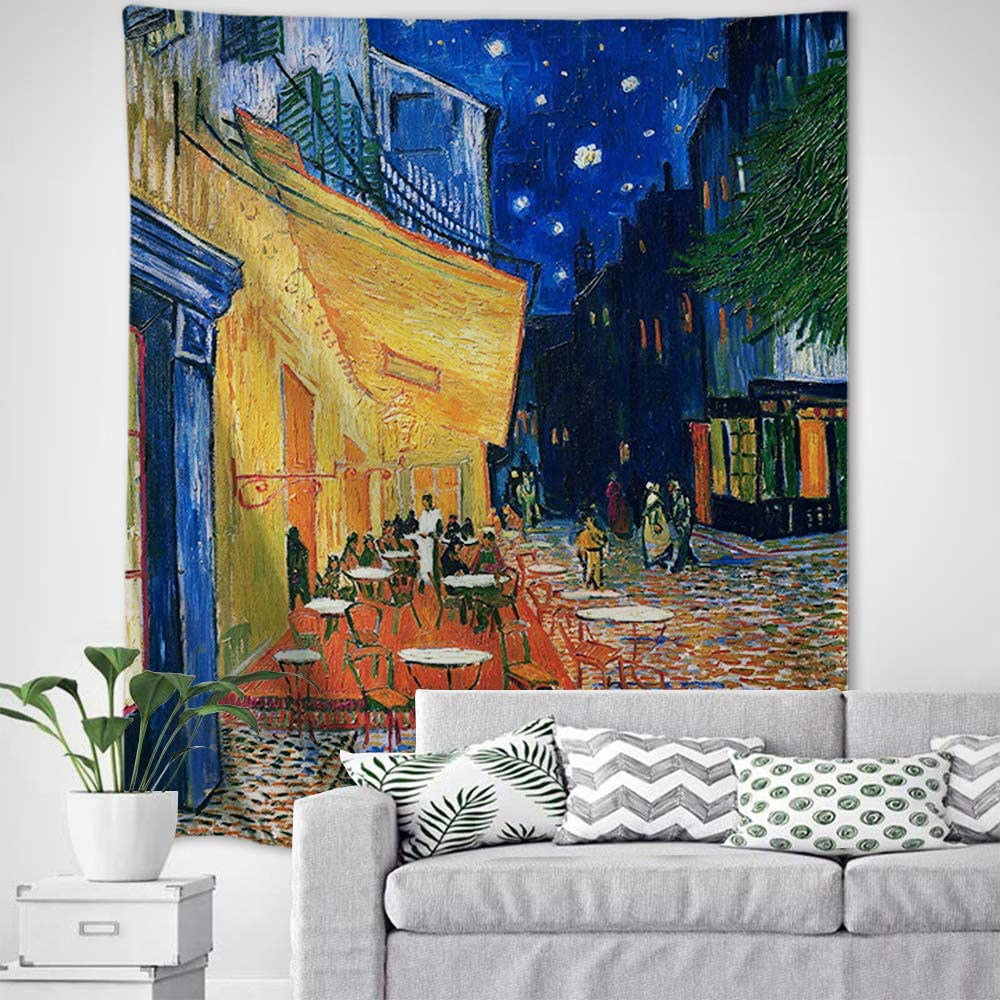 Baccessor Vincent Van Gogh Tapestry Wall Hanging Classical Famous Oil Paintings Wall Art Rustic Wall Home Decor for Bedroom Dorm, College Living Room, Vertical, 60
