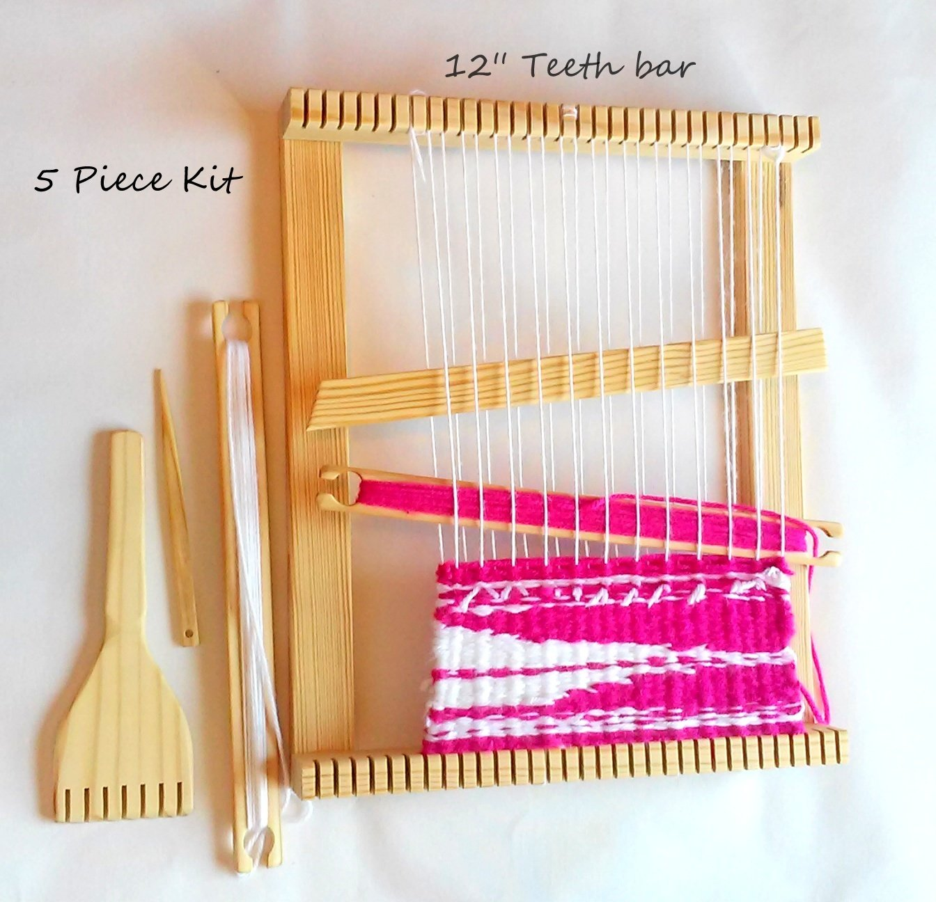 Lot of 4 Weaving Loom Kits Size 12x16 Inches with Tools (4 Kits)