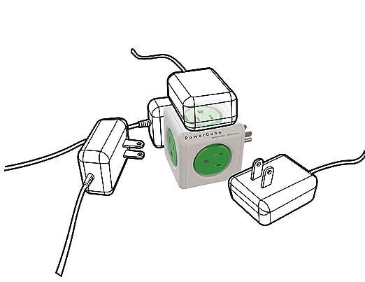 Amazon Com Powercube Original 5 Outlet Wall Adapter Power Strip
