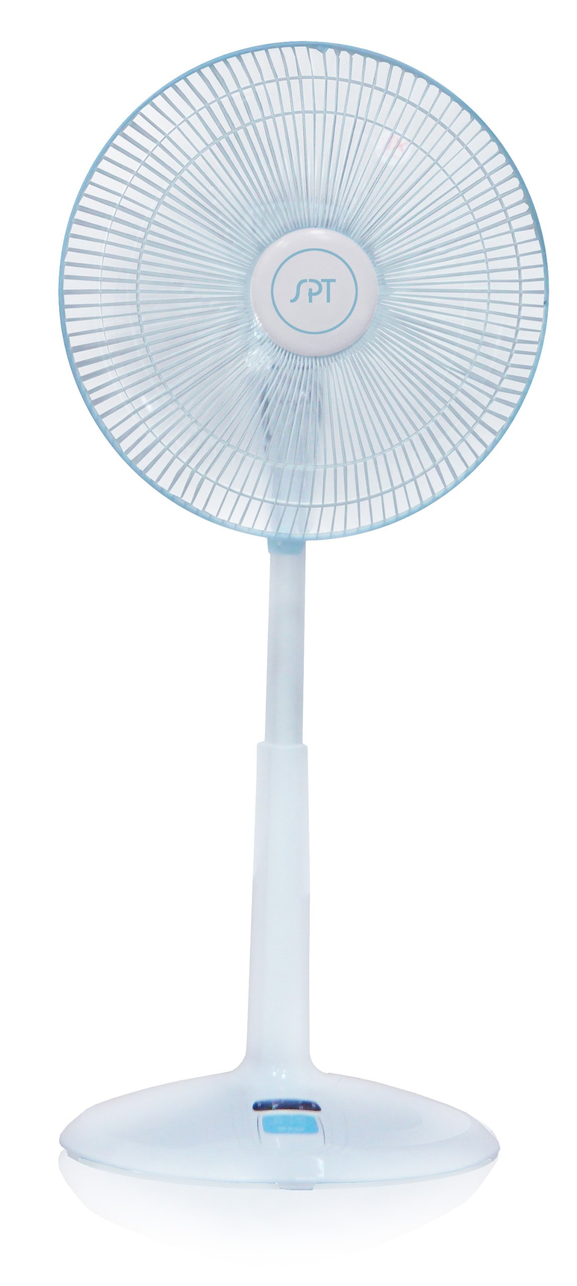 Sunpentown SF-1468 3-Speed Oscillating 14-Inch Standing Fan with Remote Control