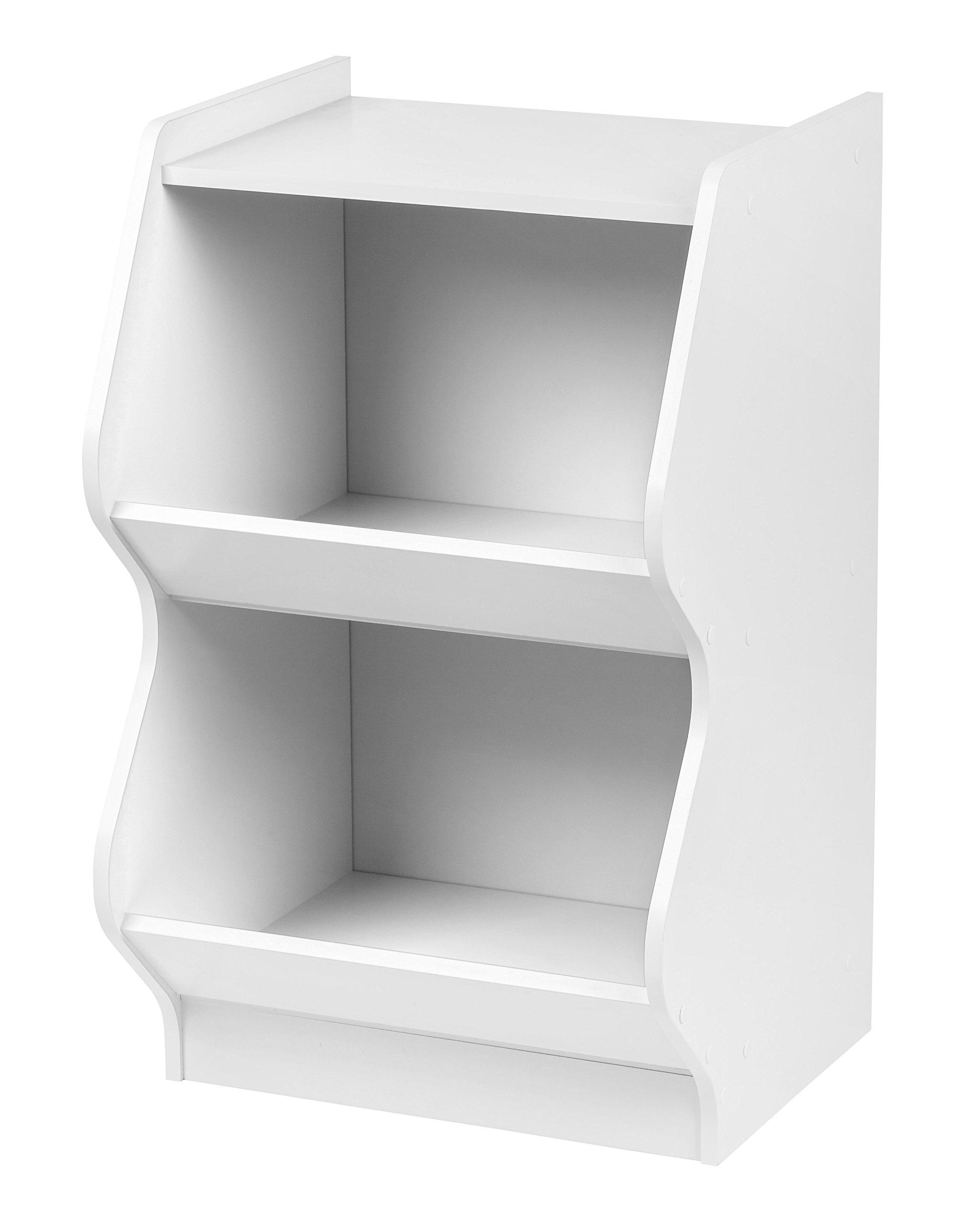 IRIS 2 Tier Curved Edge Storage Shelf, White