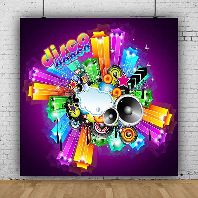 7x10 FT Popstar Party Vinyl Photography Backdrop,Rock Star Theme High Sign and Star Figure Grungy Sketch Gesture Vintage Background for Party Home Decor Outdoorsy Theme Shoot Props