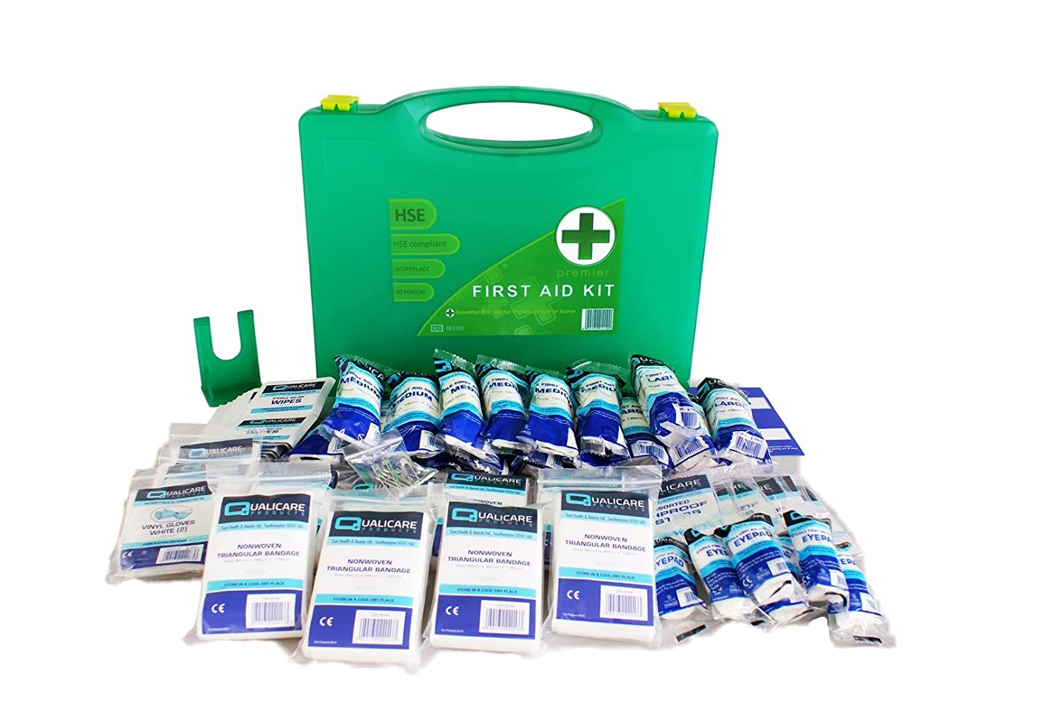 Qualicare HSE Premier First Aid Kit with Wall Bracket (1-50 Person) Qualicare Products