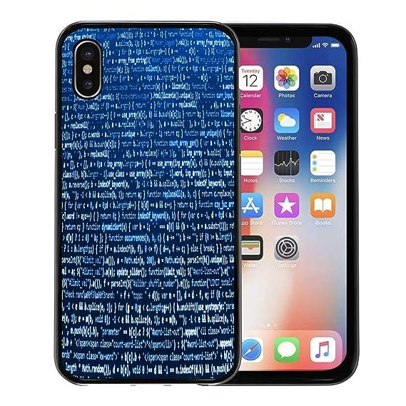 the best attitude 768b6 ecc75 Amazon.com: Emvency Phone Case for Apple iPhone Xs case,Computer ...