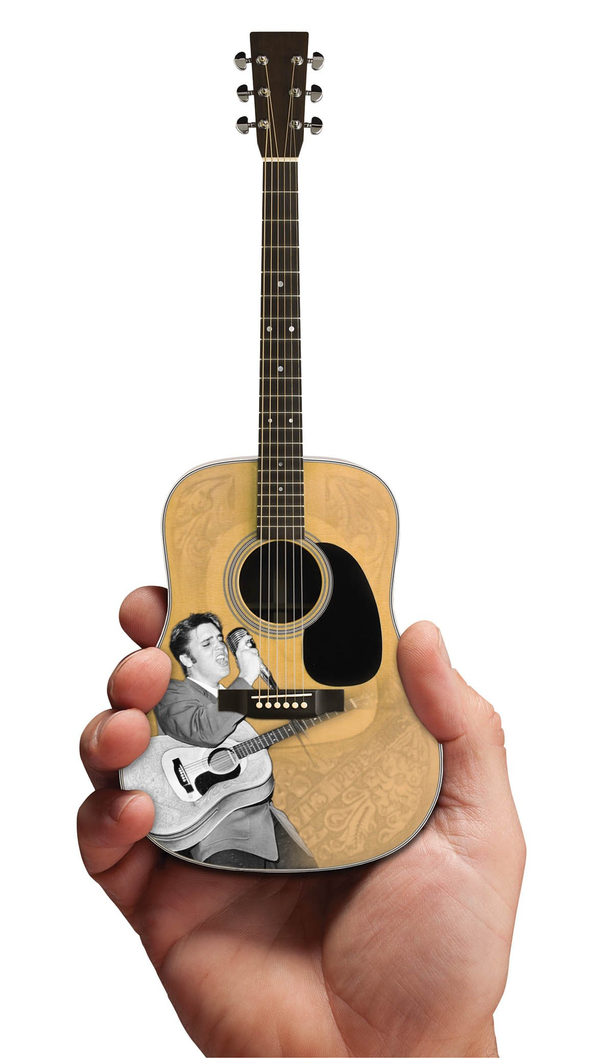 Axe Heaven EP-360 Licensed Elvis Presley '55 Tribute Acoustic Mini Guitar Replication