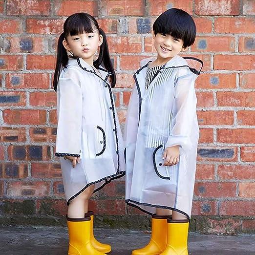 afa608771 Amazon.com  YuYe Lovely Hooded Tassel Children Kids Raincoat ...