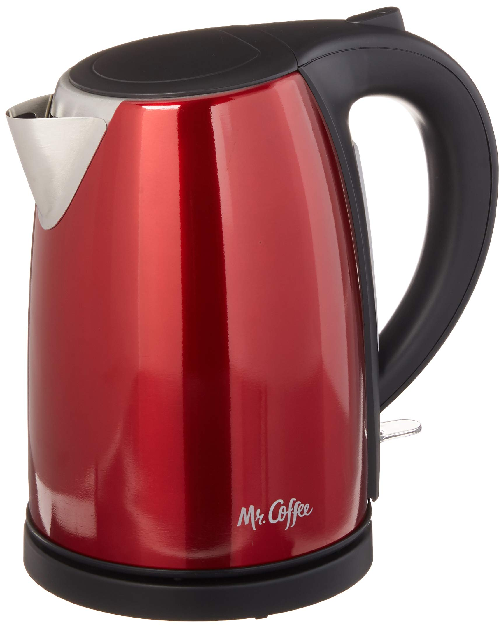 Mr. Coffee Stainless Steel Electric Kettle, Red by Mr. Coffee