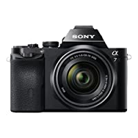 Sony ILCE7KB.CE Full Frame Compact System Camera (28-70 mm Zoom Lens 24.3 MP, 117 Points Hybrid Autofocus, 3 inch Tiltable LCD, 5 FPS, XGA OLED Tru-Finder) - Black