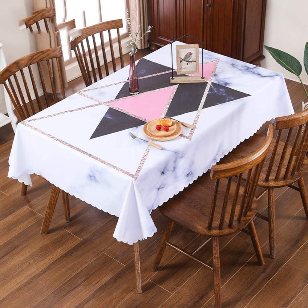 CAREXY Mantel PVC Impermeable, Rectangular Plastico Antimanchas Resistentes Al Calor Mantel De Hule para Comedor Bar Jardín Decoración Hogareña,I-110 * 160cm: Amazon.es: Hogar