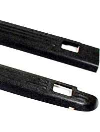 Wade 72-01151 Truck Bed Rail Caps Black Ribbed Finish with Stake Holes for 1999-2007 Silverado & Sierra 1500 2500 with...