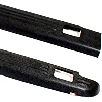 Wade 72-01151 Truck Bed Rail Caps Black Ribbed Finish with Stake Holes for 1999-2007 Silverado & Sierra 1500 2500 (Classic only) with 6.5ft bed (Set of 2)