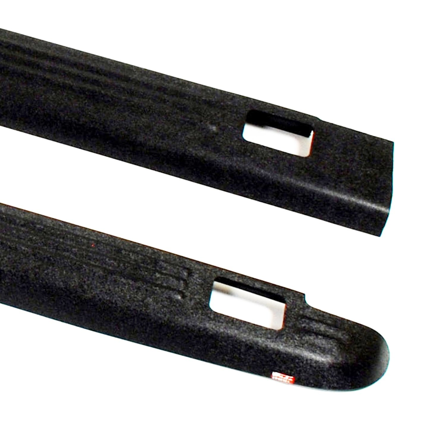 Set of 2 Wade 72-01105 Truck Bed Rail Caps Black Ribbed Finish with Stake Holes for 2007-2014 GMC Sierra 1500 2500 with 6.5ft bed