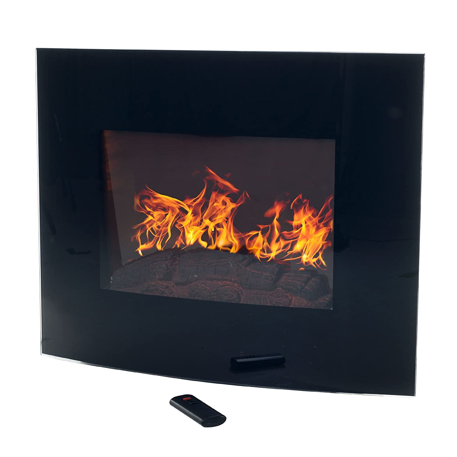 Northwest 80-EF455S Curved Glass Electric Fireplace Wall Mount and ...