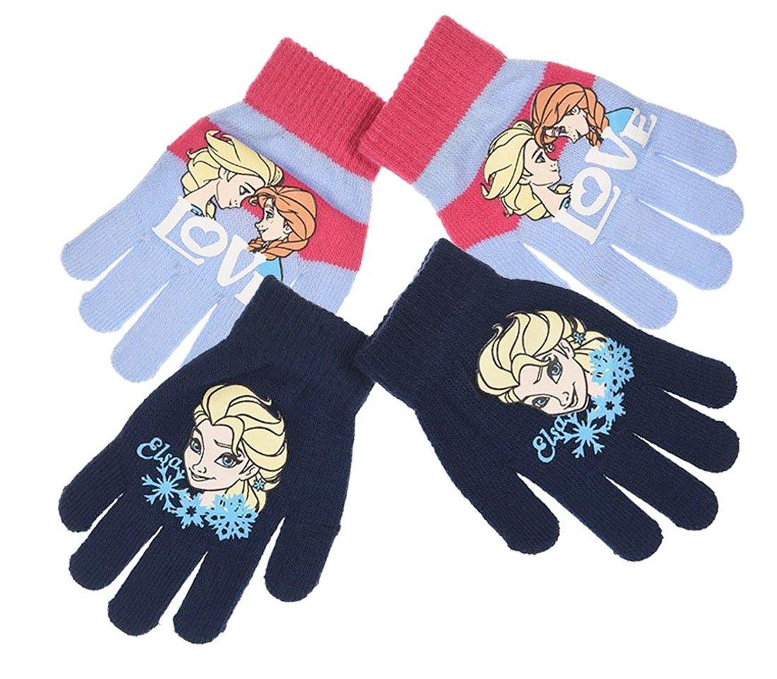 Lotto di 2 guanti da bambino ragazza la Regina delle Nevi 3 colori TAGLIA UNICA (3 –  8 anni) blu Bleu et Marine taglia unica La reine des neiges